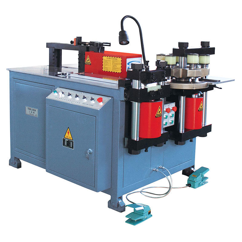 Three-station busbar processing machine JPMX-303CM
