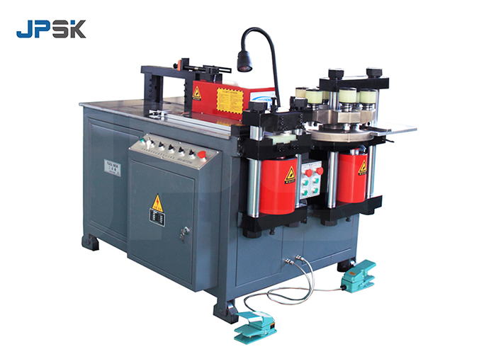 Hydraulic three pumps copper busbar punching bending cutting machine JPMX-303DM video