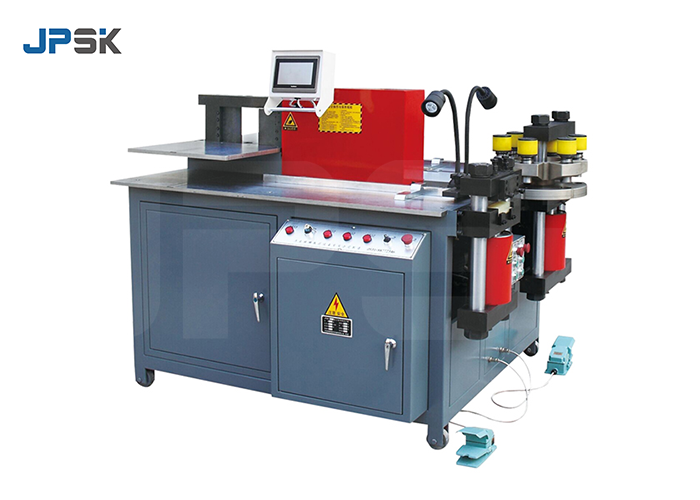 CNC three-station busbar processing machine JPMX-303ESK video