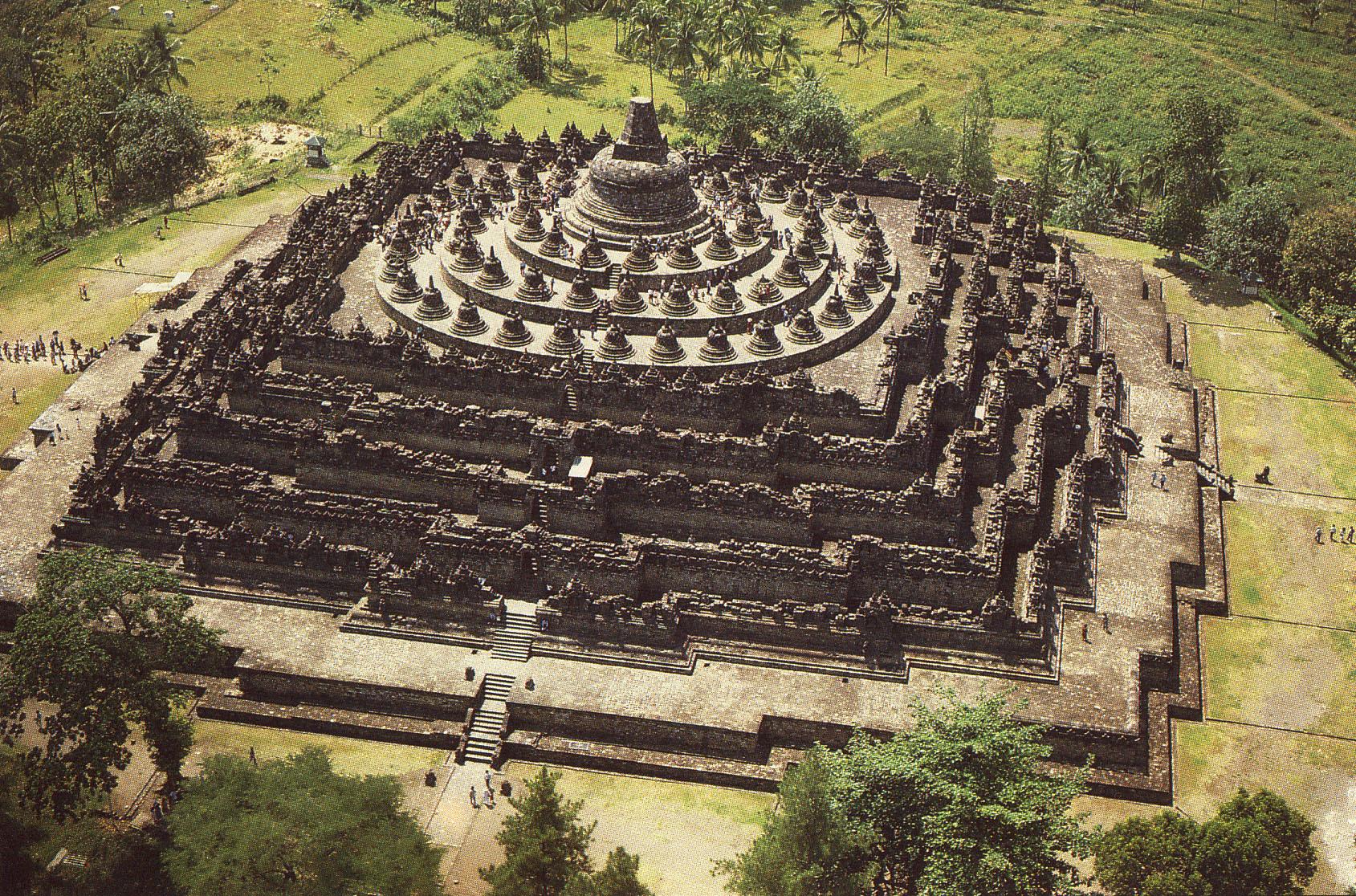 婆罗浮屠佛塔 印度尼西亚
